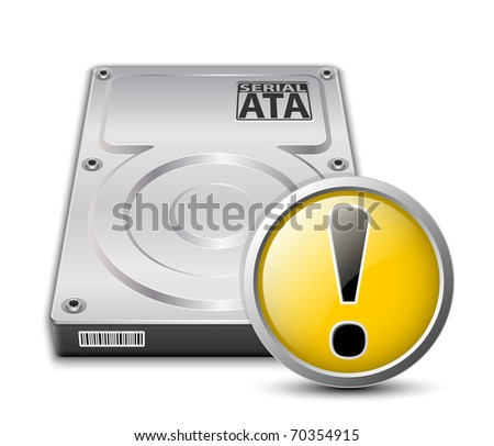 vector hard disk drive icon