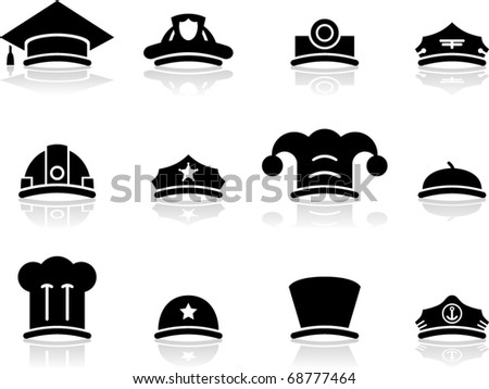 vector hat icons