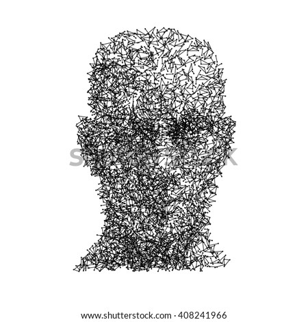 vector head human face