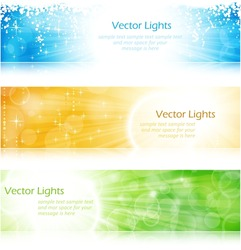 Vector header / banner light burst banner set in green, blue and gold for festive occasions with copyspace. EPS10 background with transparencies.