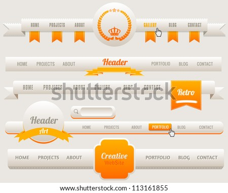 Vector Header Menu Design