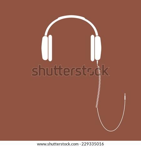 vector headphones icon dj