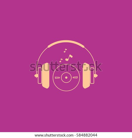 Vector headphones icon. Flat headphones icon. Flat design vector illustration concept for web banner, web and mobile. Headphones icon graphic. Vector icon