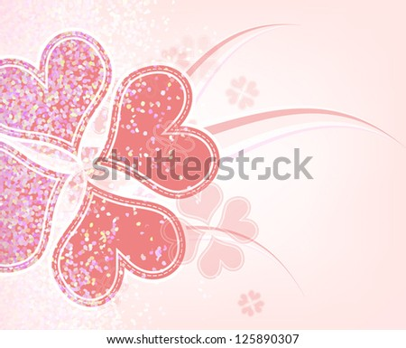 vector heart flower background design