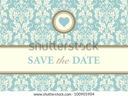 Vector Heart Frame and Background. Easy to edit. Perfect for invitations or announcements. - stock vector