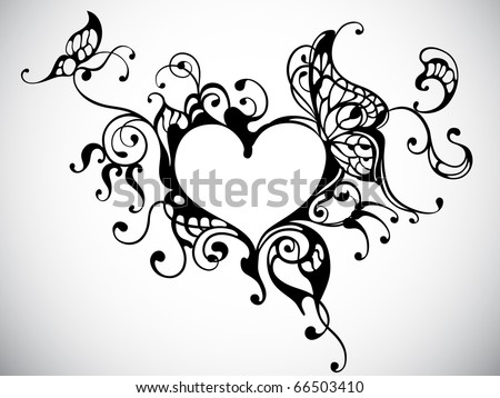 vector heart frame with