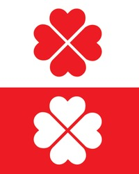 Vector Heart Icon Set in Colour and Reverse