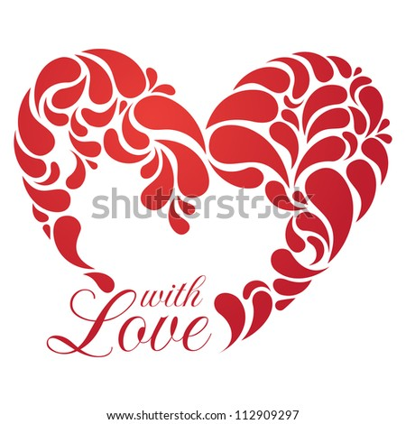 Vector heart illustration for romantic design. EPS 8.