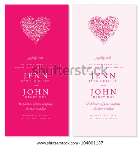 Vector Heart Invitation Frames Easy to edit Perfect for invitations or announcements