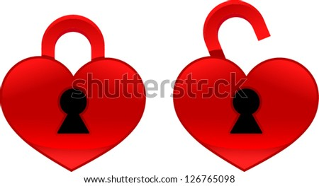 vector heart lock