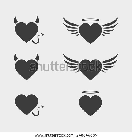 vector heart love icon symbol