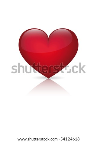Vector heart on a white background