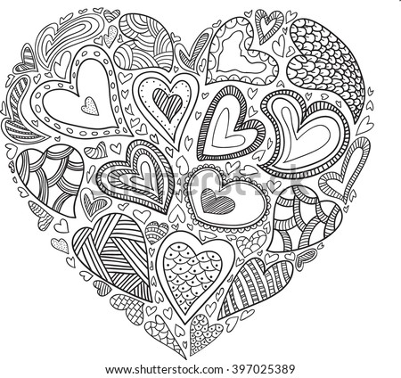 vector heart pattern for