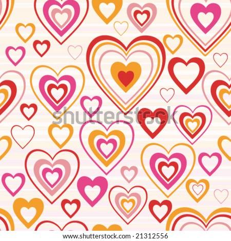Vector. Heart. Seamless background.