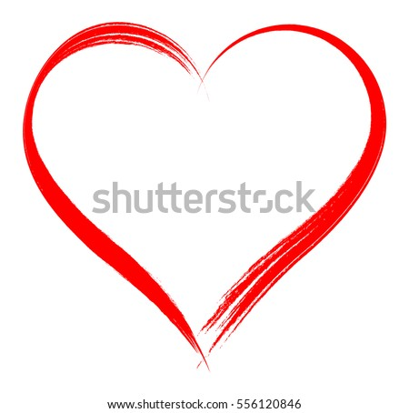 vector heart shape frame with