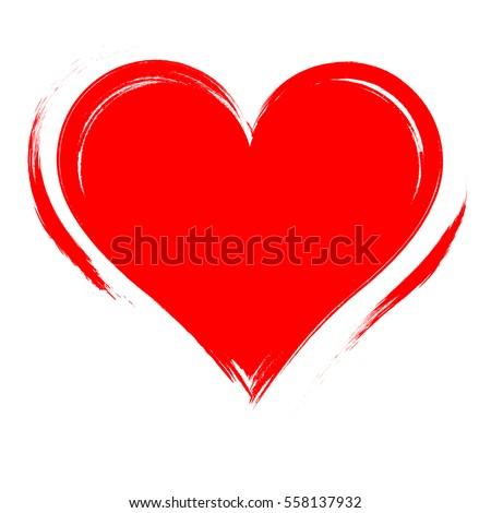 vector heart shape frame with