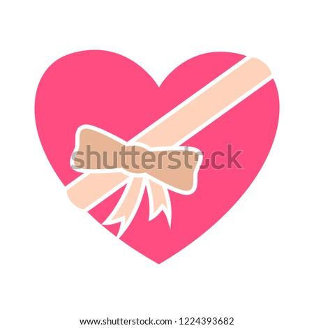 vector heart shape gift icon