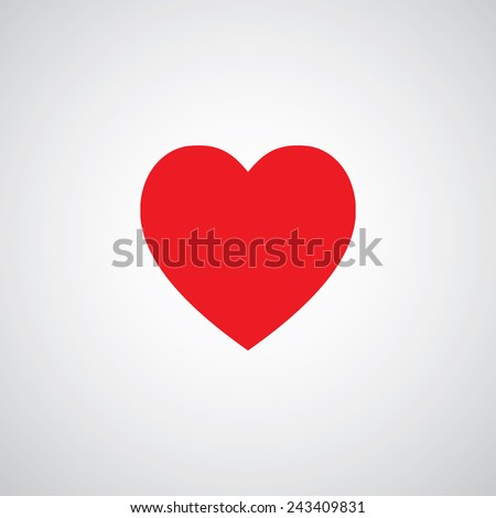 vector heart shape symbol