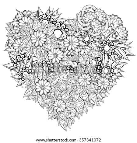 vector heart shaped pattern for