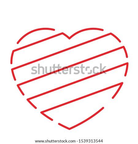 vector heart symbol. heart symbol from red symbol