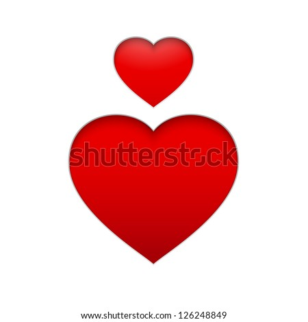vector heart symbol isolated