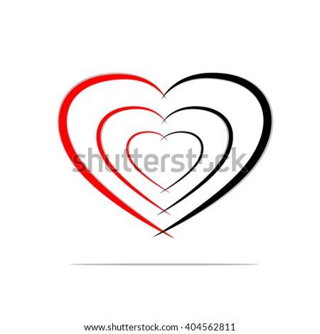 Vector Heart Symbols Ez Canvas
