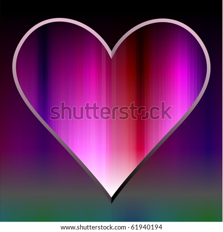 Vector heart wallpaper composed of pink lines.