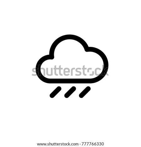 vector heavy rainy icon.