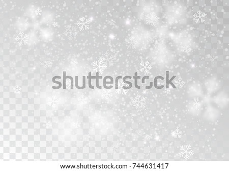 vector heavy snowfall  white