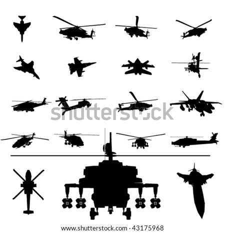 vector helicopter and fighter