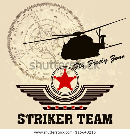 Vector Helicopter / Flying Academy Emblems