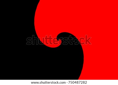 vector helix yin yang red and