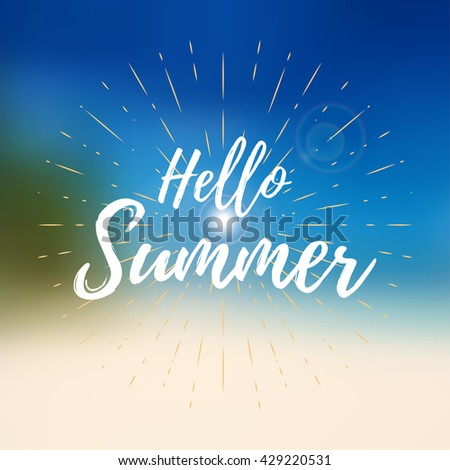 vector hello summer background