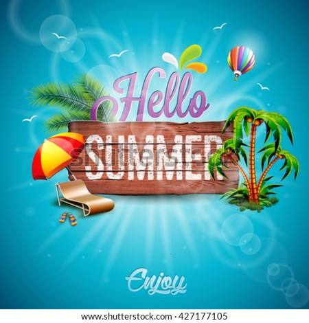 vector hello summer holiday