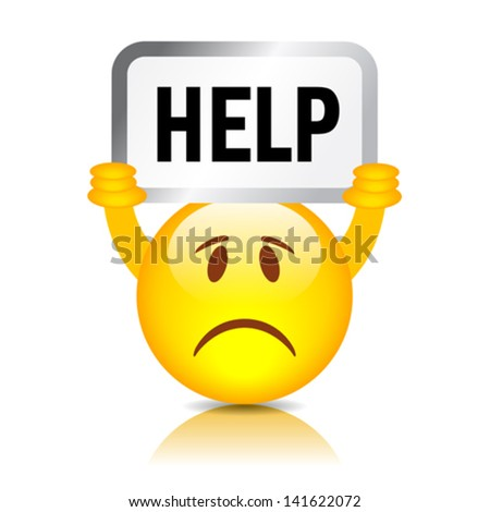 vector help wanted smiley