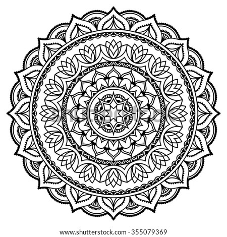 vector henna tatoo mandala