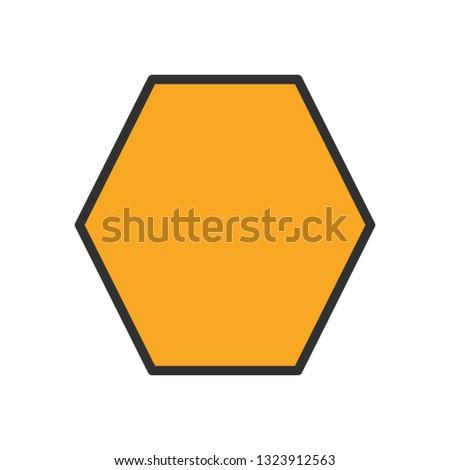 Vector Heptagon Geometric Shape Icon #1323912563