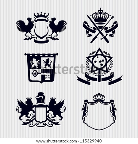 Vector Heraldic Royal Crests Coat of Arms