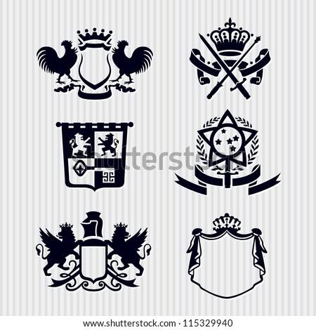vector heraldic royal crests