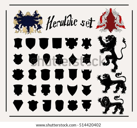 Vector Heraldic Set