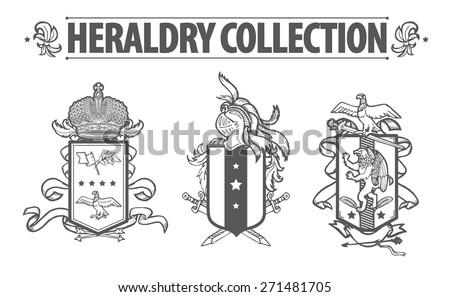 Heraldische Schild mit Löwen - Kostenlose Vektor-Kunst, Archiv ...