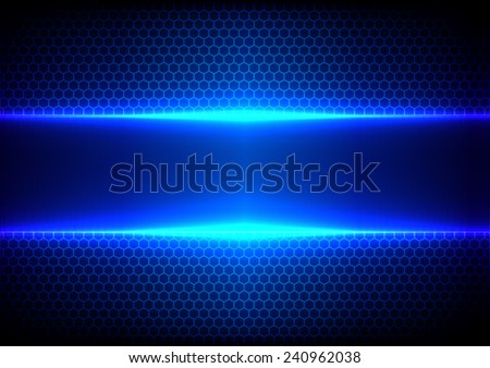 Vector hex and light blue effect  background