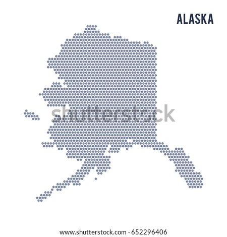 vector hexagon map of state of