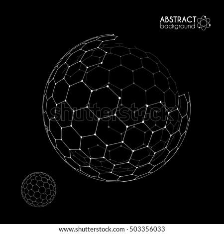 vector hexagonal grid broken
