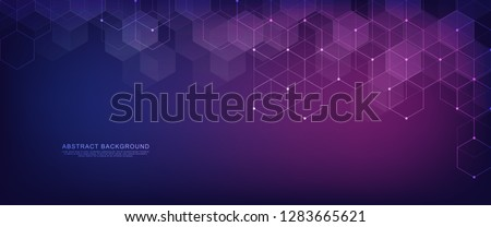Vector hexagons pattern. Geometric abstract background with simple hexagonal elements. Medical, technology or science design