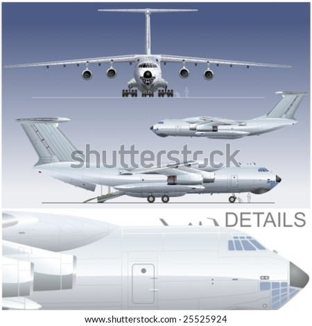 Vector hi-detailed delivery/cargo airplane. More vector aircrafts see in my portfolio.