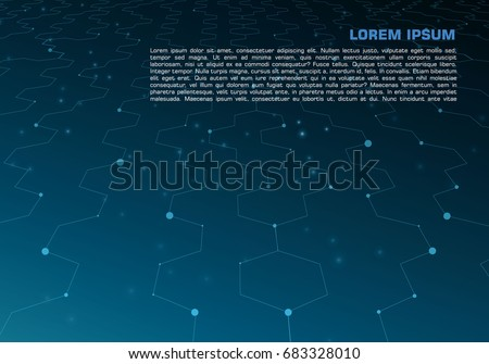 Vector hi-tech abstract background in blue color