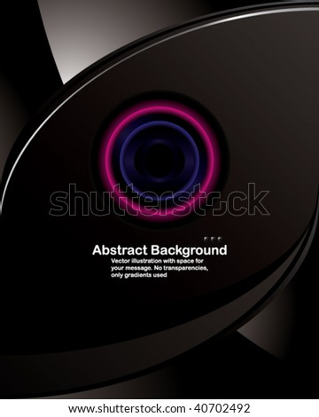 Vector. Hi-tech background in Letter format. No transparencies, only gradients used