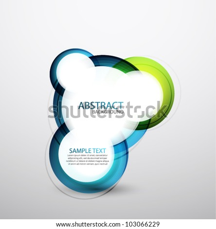 Vector hi-tech bubble banner - stock vector