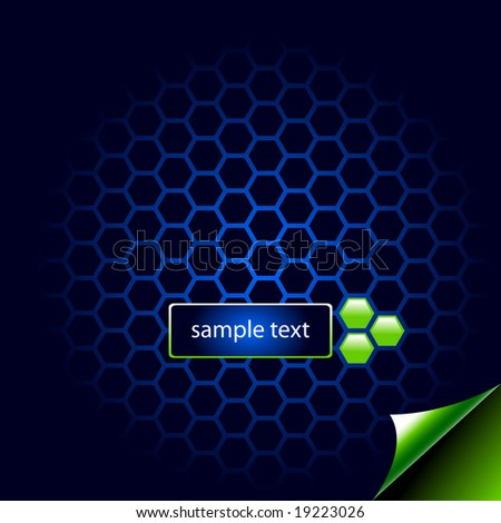 Vector hi-tech eco wallpaper with hexagonal cells. See others in my port.
